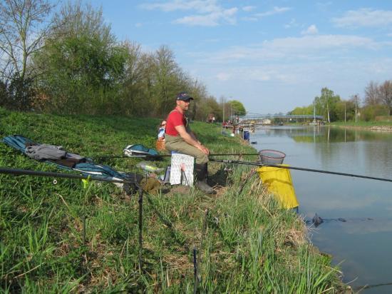 Angeln im Kanal